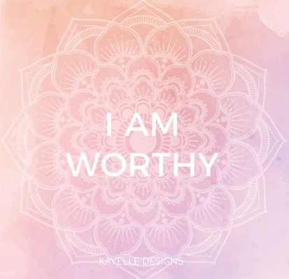 Your problem is you're to busy holding onto your unworthiness